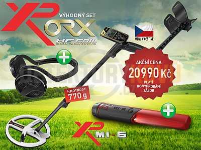 XP ORX HF 22 cm RC + bezdrátová sluchátka WSAUDIO + dohledávačka XP MI-6 - Detektory kovů