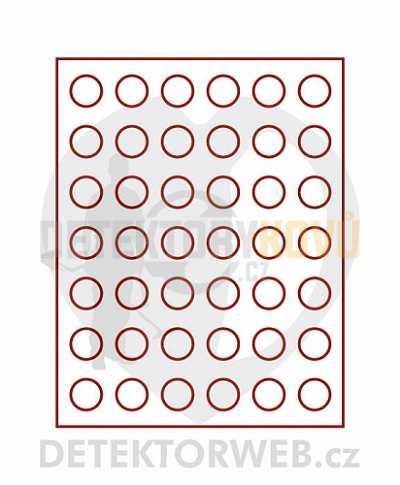 Kazeta na 42 mincí - průměr 27,5 mm 2107 - Detektory kovů