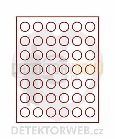 Kazeta na 42 mincí - průměr 29,5 mm 2705 - Detektory kovů