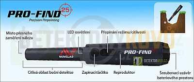 Minelab PRO-FIND 25 dohledávačka - Detektory kovů
