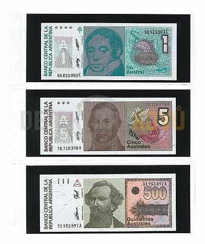 Albové listy na bankovky, 80 mm - 10 ks, - Detektory kovů