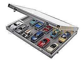 Sběratelská ALU vitrína se 6 přihrádkami - Detektory kovů