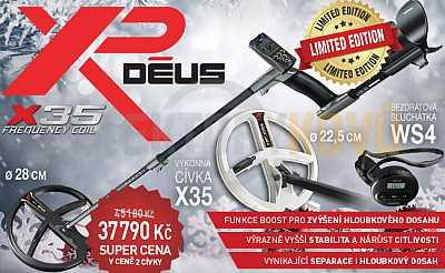Vánoční set XP Deus X35 28 cm + HF 22 cm - Detektory kovů