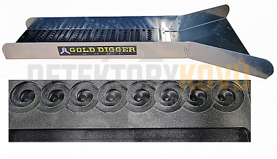 Devin Gold - splav na rýžování zlata - Černá - Detektory kovů