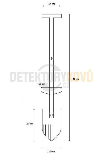 Black Ada Gladius - nerez - Detektory kovů