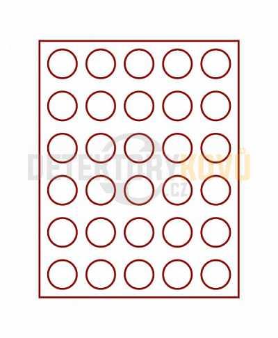 Kazeta s kouřovým sklem na 30 mincí - průměr 36 mm - Detektory kovů