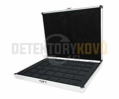 Luxusní hliníkový kufr na 30 mincí do 38 mm - Detektory kovů