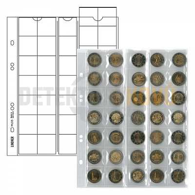 Listy na mince, černá, do Ø 27 mm pro alba PUBLICA - Detektory kovů