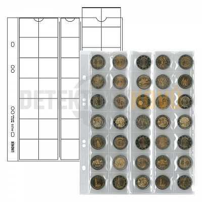 Listy na mince, červená, do ? 27 mm pro alba PUBLICA - Detektory kovů