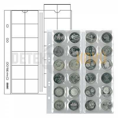 Listy na mince, červená, do ? 34 mm pro alba PUBLICA - Detektory kovů