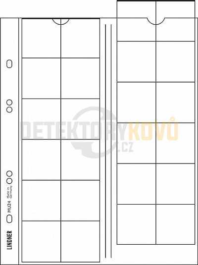 Listy na mince, černá, do ? 34 mm pro alba PUBLICA - Detektory kovů