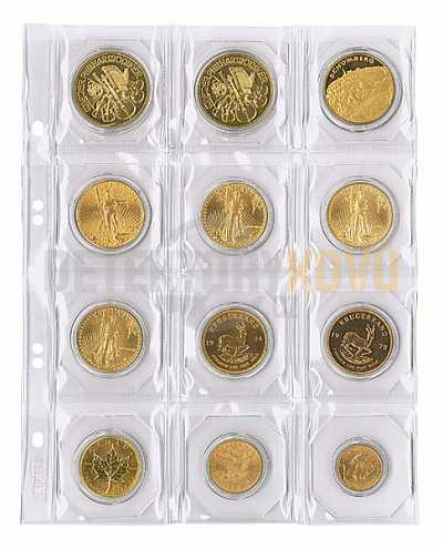 Listy na mince, černá, do ? 50 mm pro alba PUBLICA - Detektory kovů