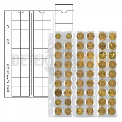 Listy na mince, černá, do Ø 20 mm pro alba PUBLICA - Detektory kovů
