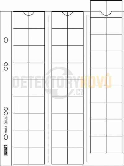Listy na mince, černá, do ? 20 mm pro alba PUBLICA - Detektory kovů