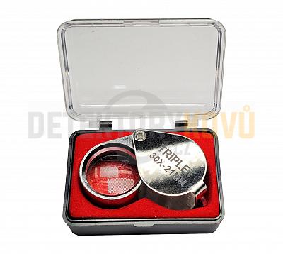 Kapesní lupa 10x zvětšení - Detektory kovů