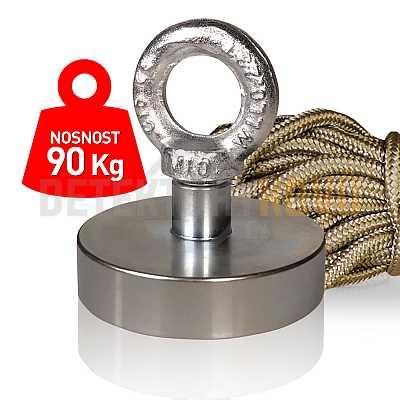 Supermagnet 90 kg - set s lanem - Detektory kovů