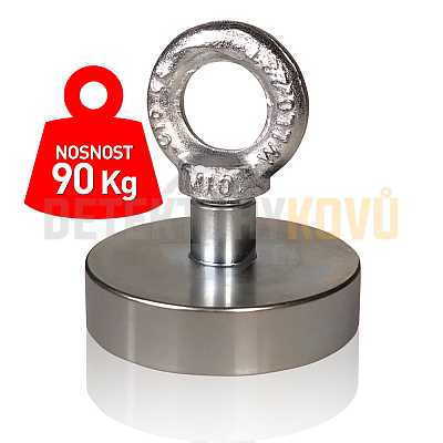 Supermagnet 90 kg - Detektory kovů