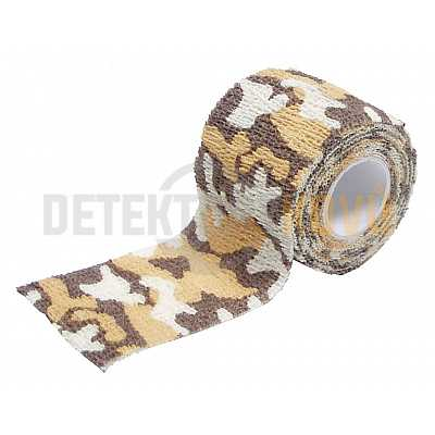 Maskovací lepící páska Desert, 5 cm x 4,5 m - Detektory kovů