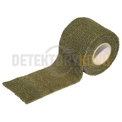 Maskovací lepící páska Olivová, 5 cm x 4,5 m - Detektory kovů