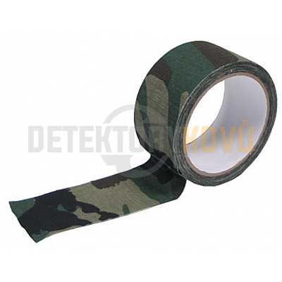 Maskovací lepící páska Woodlandl, 5 cm x 10 m - Detektory kovů