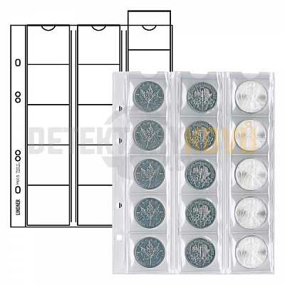 Listy na mince, do ? 42 mm pro alba PUBLICA - Detektory kovů