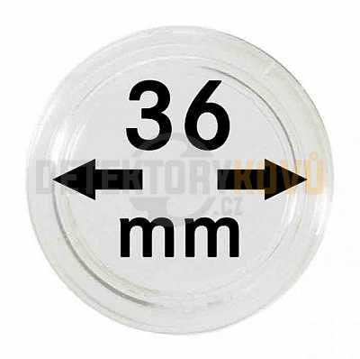 Kapsle na mince 36 mm - Detektory kovů