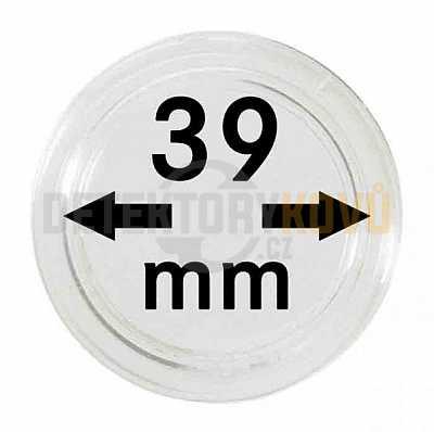 Kapsle na mince 39 mm - Detektory kovů