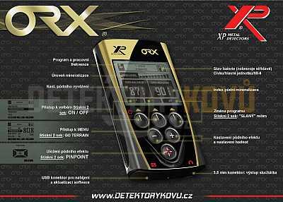 XP ORX HF 22 cm RC + dohledávačka XP MI-6 - Detektory kovů
