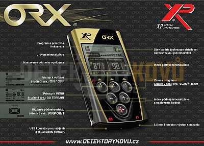XP ORX - hloubkový set dvě cívky - Detektory kovů