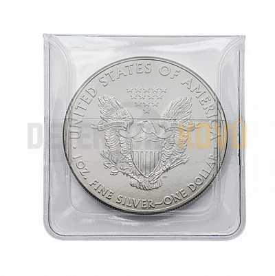 Pouzdra na mince 50 x 50 mm - 100 ks - Detektory kovů