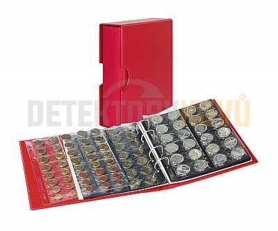 Album na mince s pouzdrem Publica M COLOR - BERRY (červené) - Detektory kovů