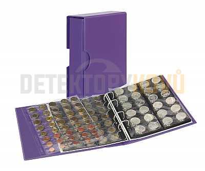 Album na mince s pouzdrem Publica M COLOR - Viola (fialová) - Detektory kovů