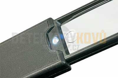 Kapesní skládací lupa s LED osvětlením. 2,5 x zvětšení - Detektory kovů