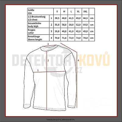 Funkční oudoorové termo triko - Detektory kovů