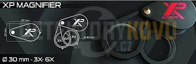 Kapesní lupa XP zvětšení 3x a 6x - Detektory kovů