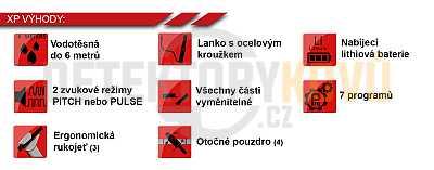 Dohledávačka XP MI-6 - AKCE! - Detektory kovů