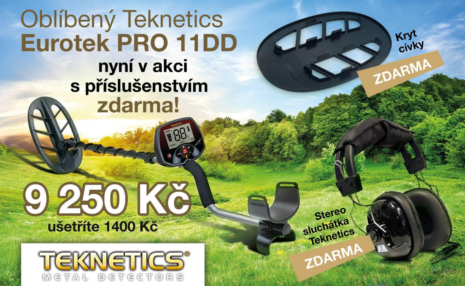 teknetics eurotek pro 11DD - detektor kovů SET