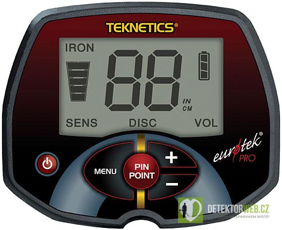 teknetics eurotek pro displej - detektor kovů